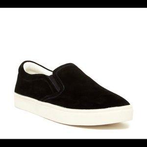 Sam Edelman Black Slip-On Sneakers